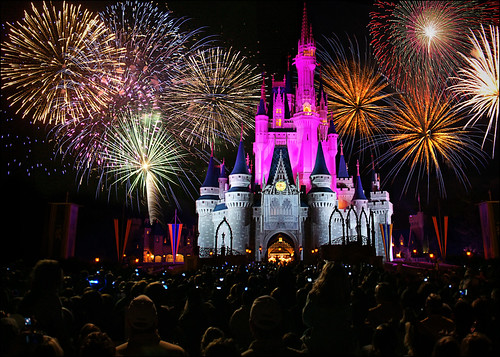 walt disney world - magic kingdom castle fireworks | by Dan Anderson.