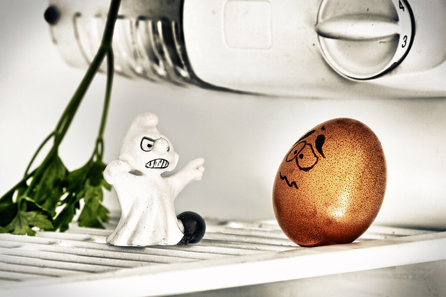 A phantom in the fridge.