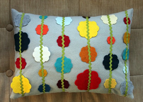 Christmas Garland Pillow | by maureencracknell