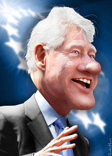 Bill Clinton - Caricature | by DonkeyHotey
