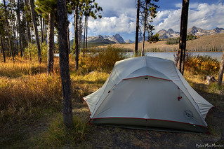 Camp on Little Redfish Lake | by Dylan MacMaster