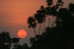 sunset near Kribi