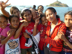 Girls in Riung, Flores