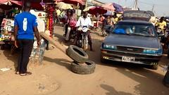 Market scene in Kubwa, FCT, Nigeria.