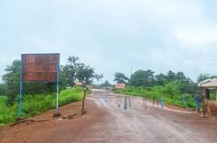 Sierra Leone / Liberia border post