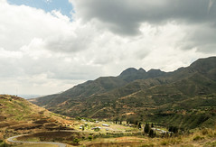 View from bus along road  to Moteng Pass