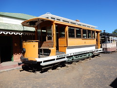 A tram at the big hole in kimberley