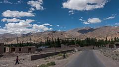 Ladakh Range, across the Indus valley,  from Stok-Stakna roads junction