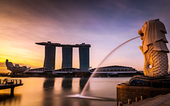 First light at the Merlion Park