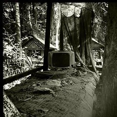 #TV at the #cemetery . Yak Loam commune cemetery. Tampeun tribe. The deceased favourite stuff go with them to the other life even the TV. #Blackandwhite #b&w #graves #death #culture #believes #tribes #cambodia #Rattanakiri #shathelfahs #nationalgeographic