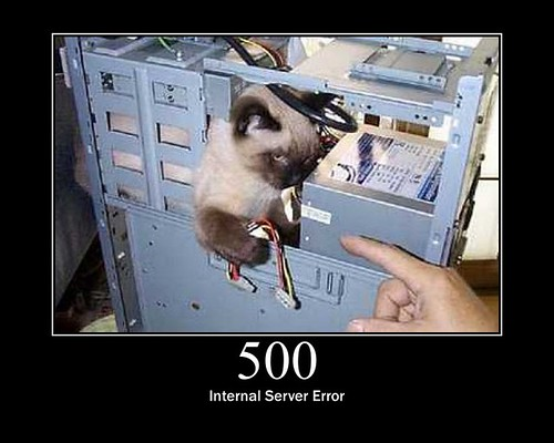 500 - Internal Server Error | by GirlieMac