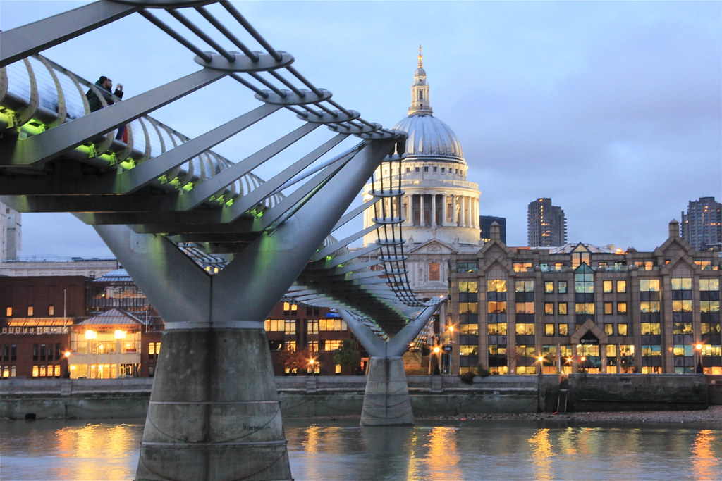 St. Paul's Cathedral & Millennium Bridge, from South Bank