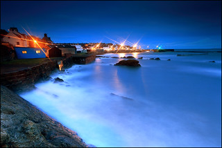 St Monans - Harbour Lights & the Blue Hut | by angus clyne