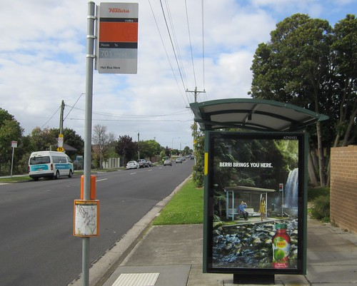 Bus stop on a bus stop | by Daniel Bowen
