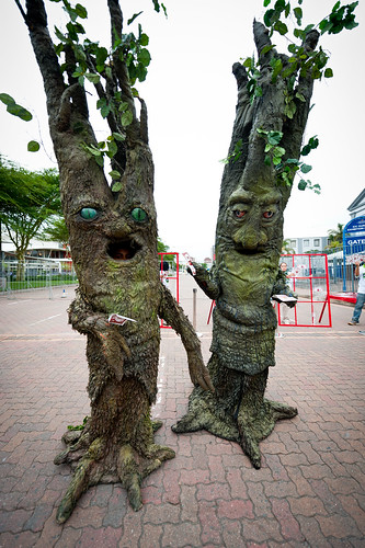 New stunt with 'human trees' | by Oxfam International