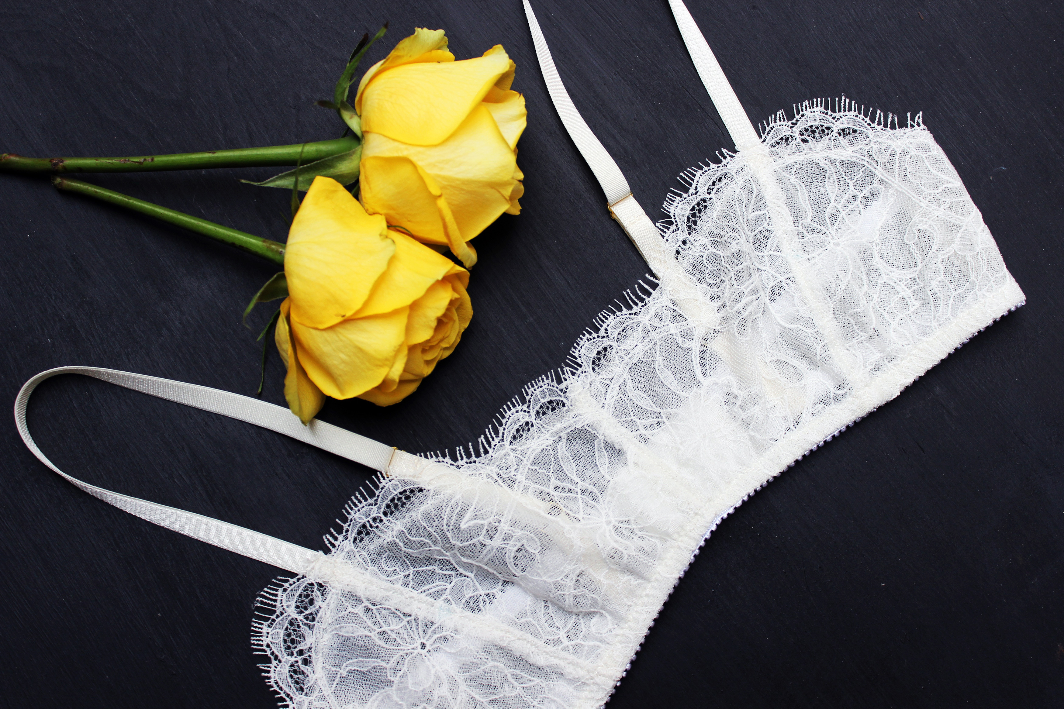 DIY Ivory Bralette Bra Making Tailor Made Shop