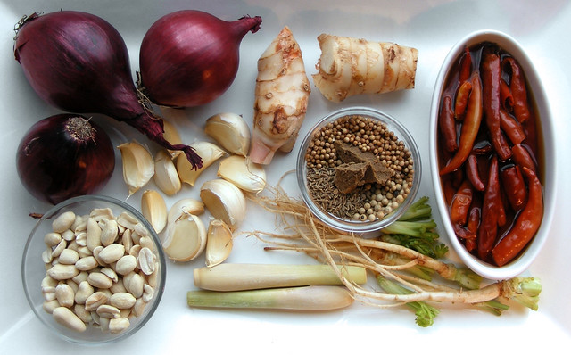 Ingredienten nodig voor Panang Curry Pasta