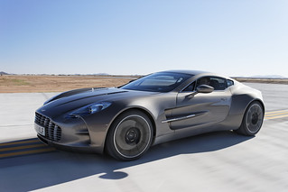 Aston Martin One-77 Launches at Virgin Galactic's Spaceport America | by Classic Driver