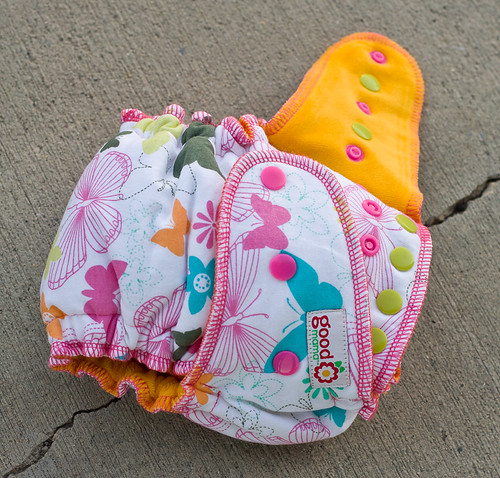 Fancy Fritillaries One-Size Fitted Diaper | by thegoodmama.com