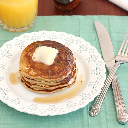 Oatmeal Cookie Pancakes | by Tracey's Culinary Adventures