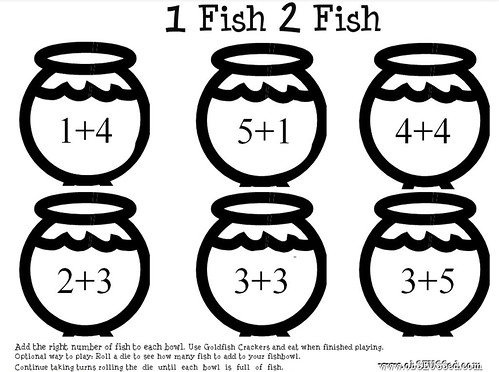 One Fish Printable ObSEUSSed addition math | by Obseussed