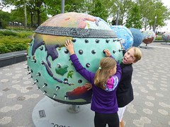 Cool earth art display