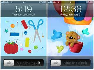 Sewing Kit and Bear iPhone wallpapers (and other designs) | by Wedgienet.net - Illustration / Design