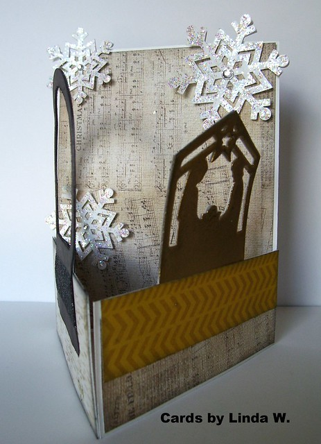 Snow Globe nativity tri-fold
