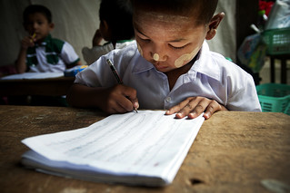 Kindergarten Child in Myanmar | by United Nations Photo