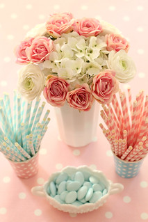 Paper straws and cups for the shop | by citrusandorange