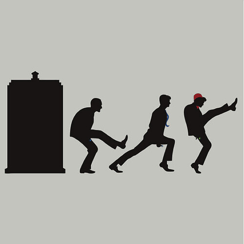 T-Shirt: The TARDIS of Silly Walks (DoctorT-Shirt:  9, 10, 11) | by trekvix