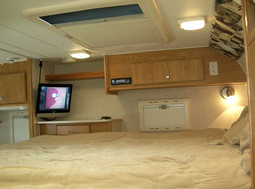 Flat Screen TV in Place | by Northstar Truck Campers