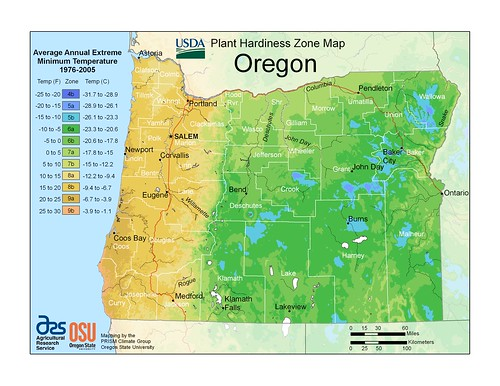 Oregon PRISM map This new zone