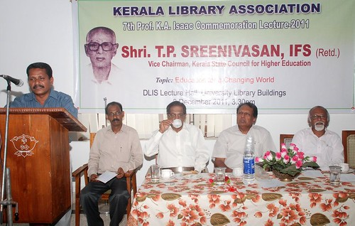 Vote of thanks: Mr Hashim E, Treasurer, KLA | by Kerala Library Association
