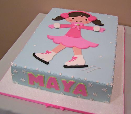 Cake Design Creator : Ice Skating cake Maya had an Ice Skating party to ...