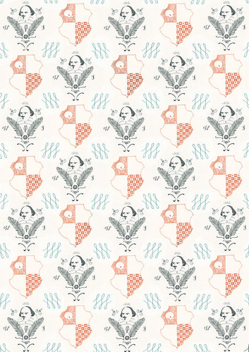 Shakespeare wallpaper | by Lizzy Stewart