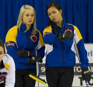 Napanee, ON Feb 11 2011 M&M Canadian Juniors Team  Alberta, Skip Jocelyn Peterman,with Third Brittany Tran Michael Burns Photo Ltd. | by seasonofchampions
