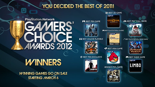 Gamers' Choice Awards 2012 - Lead | by PlayStation.Blog