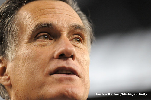 Mitt Romney speaks to the Detroic Economic Club | by Austen Hufford