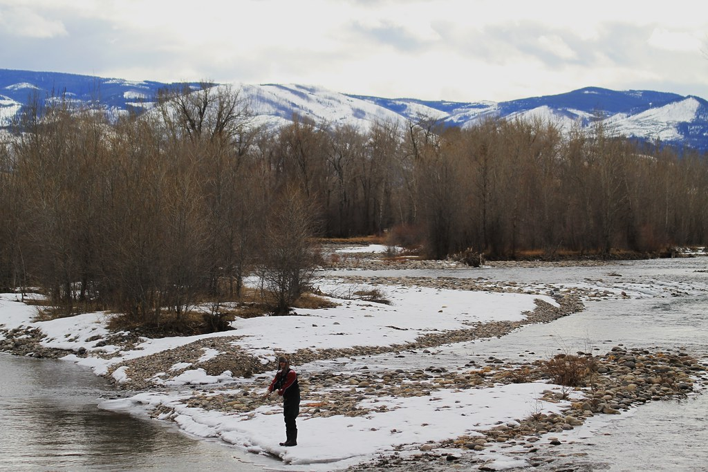 Fly Fishing in The Winter by Fisherga - Winter Fly Fishing