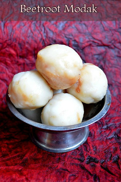 Beetroot Modak Recipe - Beetroot Sweet Kolukattai version With Jaggery without sugar