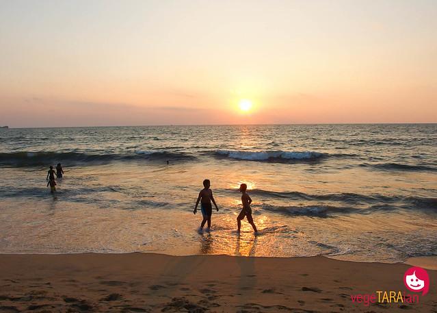 Tourist town at Negombo Beach