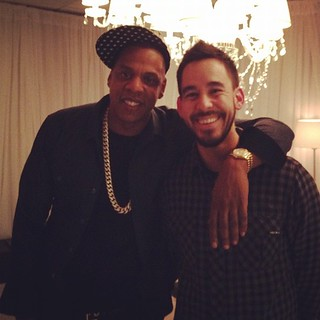 @m_shinoda & @JayZ pre-show. @RollingStone @linkinpark #jayzsyncshow | by the_real_mike_shinoda