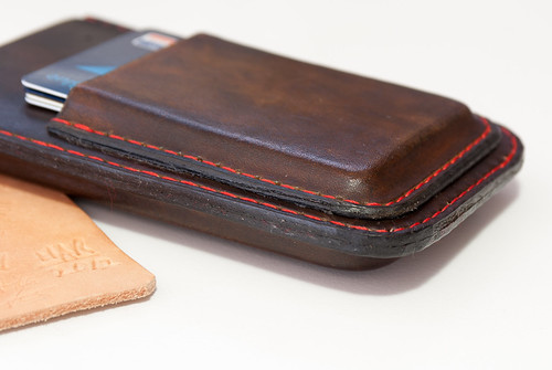 Iphone  Brown Leather Flip Case