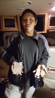 Matt Claw, native Navajo artist from whom we purchased a couple of carvings