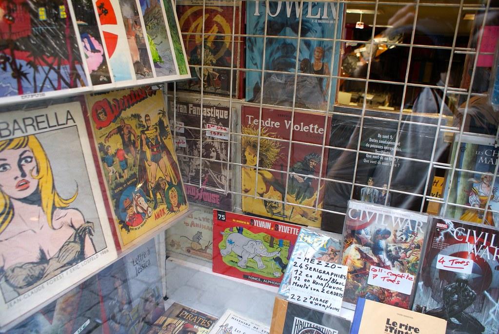 Librairie / disquaire Boul'dingue à Lyon dans le quartier Saint Jean.