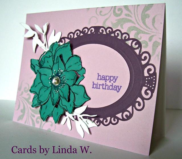 Happy birthday teal flower
