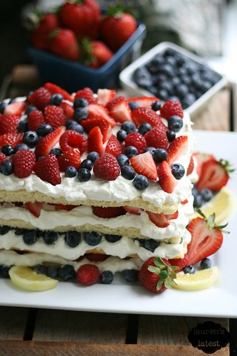 Triple Berry Layered Lemon Cream Cake 2 | by laurenslatest