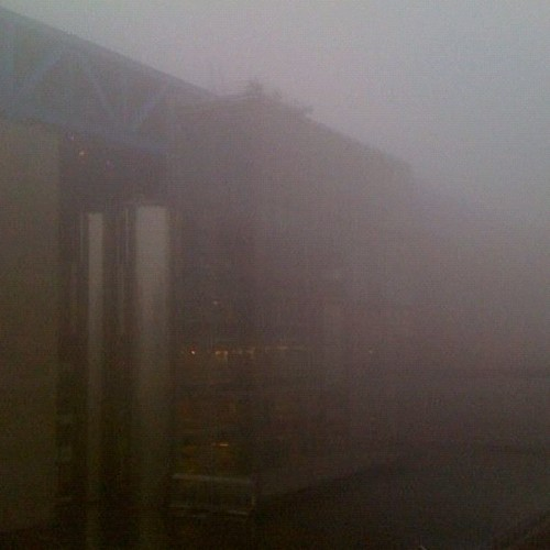 Winter 2012, fog on the Cité des sciences | by cite.sciences