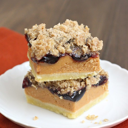 Peanut Butter and Jelly Bars | by Tracey's Culinary Adventures